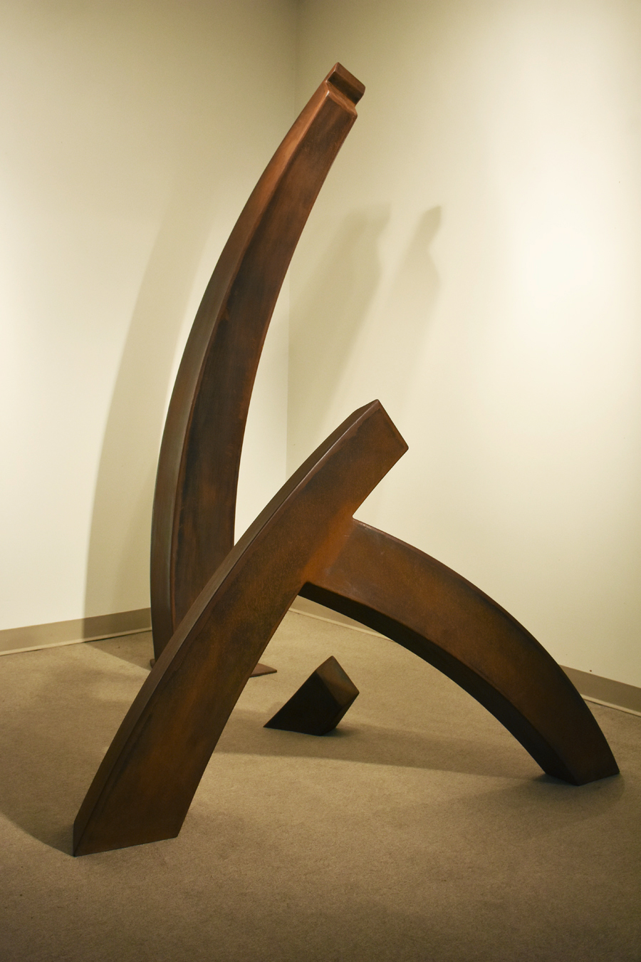 Corphée I, 2016, Corten steel and inox, 90'' x 72''
