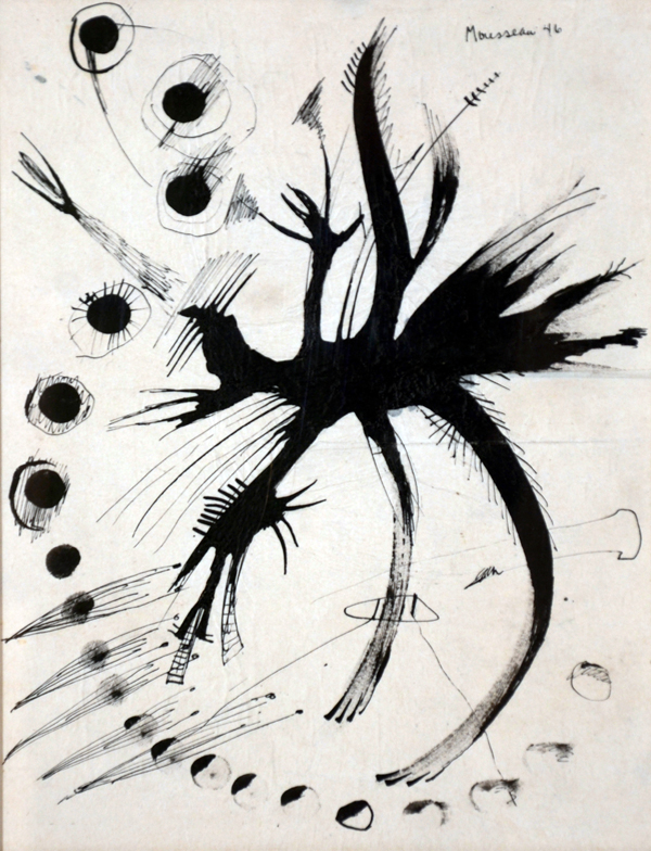 Untitled, 1946, Ink on paper, 10¼'' x 8''