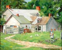 "At port William, P.Q., Oil on panel, 8½'' x 10½''<span class=""sold"">sold</span>"