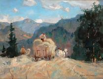 "August day, Val-Morin County, Huile sur toile, 12'' x 16''<span class=""sold"">vendu</span>"