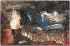 "Automne, 1948, Oil on panel, 4'' x 6''<span class=""sold"">sold</span>"