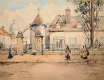 "Chateau Ramezay, Watercolour on paper, 12'' x 15½''<span class=""sold"">sold</span>"