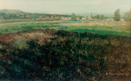 "Paysage du sud de la France, 1901, Oil on canvas, 20'' x 30''<span class=""sold"">sold</span>"