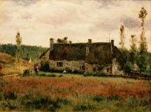 "Homestead, 1884, Oil on canvas, 16'' x 20''<span class=""sold"">sold</span>"