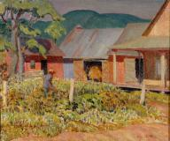 "Farm near St-Jovite, Oil on canvas, 20'' x 24''<span class=""sold"">sold</span>"