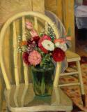 "Flowers in green jug, 1941, Oil on canvas, 28'' x 22''<span class=""sold"">sold</span>"