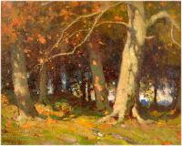 "Forest interior, Autumn, Oil on canvas, 16¼'' x 20¼''<span class=""sold"">sold</span>"