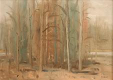 "Forest, Oil on panel, 20'' x 28''<span class=""sold"">sold</span>"