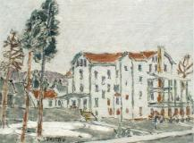"Glenmore Hotel, 1927, Huile sur toile, 12'' x 16''<span class=""sold"">vendu</span>"