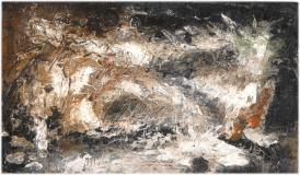 "Hiver, 1948, Oil on panel, 3½'' x 6''<span class=""sold"">sold</span>"