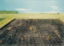 "Working the fields, Oil on canvas, 18'' x 24''<span class=""sold"">sold</span>"