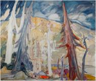 "Le canot, 1965, Oil on panel, 41'' x 48''<span class=""sold"">sold</span>"