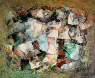 "Les alpilles, 1959, Oil on canvas, 20'' x 24''<span class=""sold"">sold</span>"