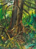 "Forest interior, 1963, Oil on panel, 16'' x 12''<span class=""sold"">sold</span>"
