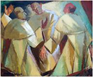 "3 friars, Oil on panel, 10'' x 12''<span class=""sold"">sold</span>"
