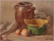 "Nature morte, Oil on panel, 17'' x 13''<span class=""sold"">sold</span>"