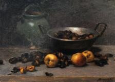 "Nature morte aux pommes et marons, 1902, Oil on canvas, 18½'' x 25¾''<span class=""sold"">sold</span>"