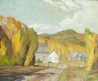 "North Country Road, Huile sur toile, 20'' x 24''<span class=""sold"">vendu</span>"