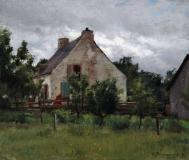 "Old Quebec house, 1890, Oil on canvas, 10½'' x 12''<span class=""sold"">sold</span>"