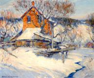 "Old mill in winter, Oil on canvas, 20'' x 24''<span class=""sold"">sold</span>"