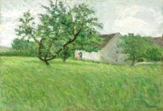 "Été, 1900, Oil on canvas, 15'' x 22''<span class=""sold"">sold</span>"