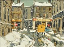 "Place Royale, 1962, Oil on canvas, 12'' x 16''<span class=""sold"">sold</span>"