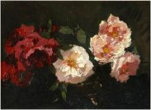 "Roses, 1914, Oil on canvas, 10¼'' x 13½''<span class=""sold"">sold</span>"