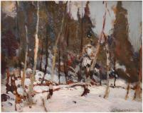 "Winter, Algonquin Park, Oil on board, 8½'' x 10½''<span class=""sold"">sold</span>"