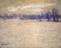 "Winter, Arthabasca, Oil on panel, 8¼'' x 10¼''<span class=""sold"">sold</span>"